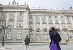 Flamenco dancer performing at Royal Palace, Madrid, Spain Royalty Free Stock Image