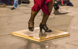 Flamenco Dancer's Feet Stock Images