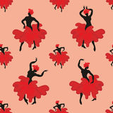 Flamenco dancer seamless pattern Stock Photo