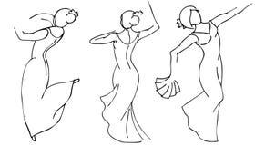 Flamenco dancer set Stock Photo