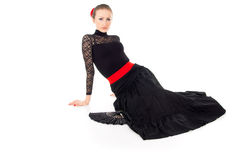 Flamenco dancer sits Stock Photos