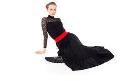 Flamenco dancer sits Stock Photos
