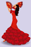 Flamenco dancer. spanish girl. Stock Photo