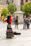 Flamenco dancer on the sreet of Madrid Stock Images