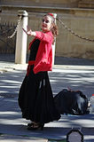 Flamenco dancer in the street 56 Stock Image