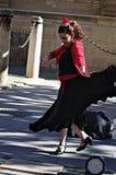 Flamenco dancer in the street 78 royalty free stock photo
