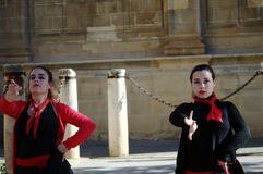 Flamenco dancer in the street 79 royalty free stock photo