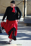 Flamenco dancer in the street 45 Royalty Free Stock Photo