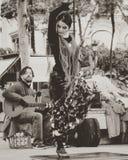 Flamenco dancer. Streets of seville royalty free stock image