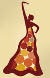 Flamenco dancer (vector) Stock Image