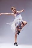 Flamenco dancer in vintage retro dress dancing Stock Photography
