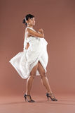 Flamenco dancer in white dress Stock Photography