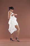Flamenco dancer in white dress Stock Image