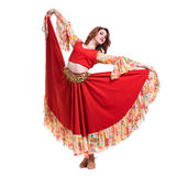 Flamenco dancer  woman posing, isolated on white Stock Photo