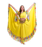 Flamenco dancer  woman posing, isolated on white Stock Image