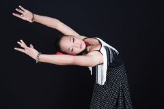 Flamenco dancer. Young Spanish Flamenco dancer at the dance studio stock images