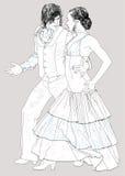 Flamenco dancers Royalty Free Stock Image