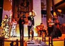Flamenco Dancers in Barcelona Stock Images