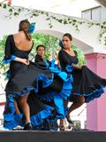 Flamenco dancers, Marbella, Spain. Royalty Free Stock Photos