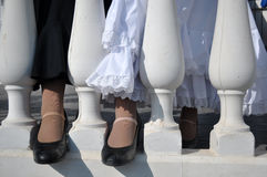 Flamenco dancers shoes Royalty Free Stock Photography