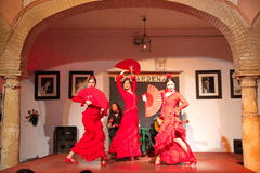 Flamenco dancers and singers performance Stock Photo