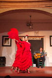 Flamenco dancers and singers performance Royalty Free Stock Image