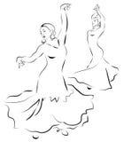 Flamenco dancers. sketch Stock Image
