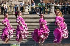Flamenco Dancers in  Spain Royalty Free Stock Photo