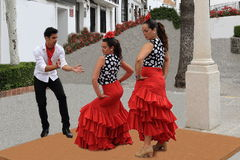Flamenco dancers in the town of Mijas, Malaga, Spain Stock Image
