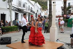 Flamenco dancers in the town of Mijas, Malaga, Spain Stock Photo
