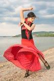 Flamenco dat in openlucht danst Stock Afbeeldingen