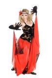 Flamenco de danse de jeune fille. Photo stock