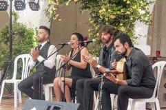Flamenco del canto fotografía de archivo libre de regalías