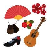 Flamenco design, vector illustration. Stock Images