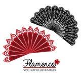 Flamenco design, vector illustration. Royalty Free Stock Photography