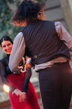Flamenco di Alba Lucera nella prestazione vibrante di ballo fotografia stock libera da diritti