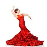 Flamenco di dancing della giovane donna Immagini Stock Libere da Diritti