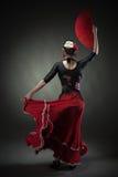 Flamenco di dancing della giovane donna Fotografie Stock Libere da Diritti