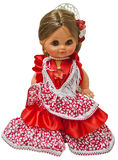 Flamenco dress doll. Flamenco dolls on white background Stock Photography