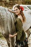 Flamenco dziewczyny w rancho obraz stock