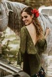 Flamenco dziewczyny w rancho fotografia royalty free