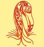 Flamenco elegante del tatuaje Foto de archivo