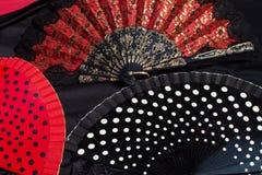 Flamenco fan Obrazy Stock