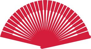 Flamenco fan. Sports vector icon vector Royalty Free Stock Photos