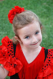 Flamenco Girl. A little girl wearing a traditional flamenco costume Stock Photography