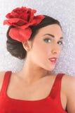 Flamenco girl in ice Stock Photo