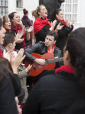 Flamenco group stock images