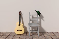 Flamenco guitar Stock Image
