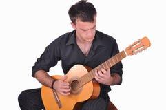 Flamenco guitar player Stock Photos