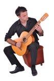 Flamenco guitar player Royalty Free Stock Photos